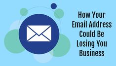 Your Email is Your Brand - How Your Email Address Could Be Losing You Business Free Email Services, Email Providers, Professional Email Example, Social Media Marketing, Digital Marketing, Business Emails, Blog Categories, Your Email, Losing You