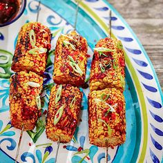 ORIENTAL MINI SWEETCORN SKEWERS - from Lakeland Barbecue Recipes, Bbq, Fresh Corn Recipes, Recipe Patch, Cooking Tips, Cooking Recipes, Camping Meals, Skewers, Vegan Recipes