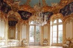 Example of French Rococo Interiors // Salon Ovale, Hôtel de Soubise, Paris, France. Decorated by Germain Boffrand from in the Rococo Styles of France French Rococo, Rococo Style, French Chateau, Paris France, Modern Interior, Interior Design, Classical Antiquity, Asymmetrical Design, Decoration