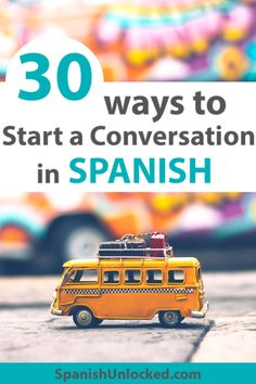 learning spanish Learn these 30 different Spanish conversation starters and strike a conversation with any friend or potential friends in Spanish! Learn Spanish Free, Learning Spanish For Kids, Learn To Speak Spanish, Learn Spanish Online, Study Spanish, Spanish Lesson Plans, Spanish Activities, Spanish Language Learning, Spanish Lessons