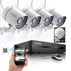 Zmodo 4CH NVR 720P HD IP Network Home Surveillance Security Camera System 1TB in Consumer Electronics, Home Surveillance, Surveillance Security Systems | eBay