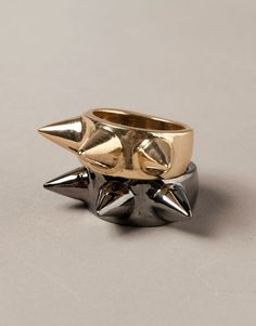 PACK OF TWO SPIKE RINGS - JEWELLERY - WOMAN - Portugal