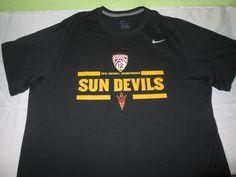 Team Issue ARIZONA ST SUN DEVILS FOOTBALL NCAA T Shirt XXL 2XL - Nike Dri Fit #Nike #ArizonaStateSunDevils