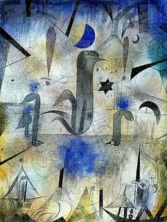 The sirens of ships, 1917, by Paul Klee (Detail) Stuttgard, Staatgalerie (Art Gallery)
