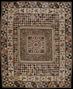 Patchwork coverlet 1802-1830 - Victoria and Albert Museum, included in Queensland Art Gallery's 'Quilts 1700-1945' Exhibition