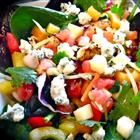 Chicken Mango Salsa Salad with Chipotle Lime Vinaigrette Recipe    It was soooo good!  PS: I bbq'd the chicken, only seasoning with salt and pepper...I chopped up 3 chicken breats...not the 1 cup the recipe called for...Great hot summer nite dinner!