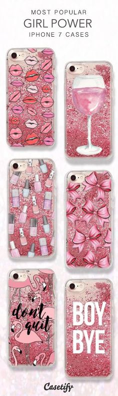 Most Popular Girl Power iPhone 7 Cases here > https://www.casetify.com/collections/iphone-7-glitter-cases#/