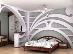 Arredare col cartongesso - Decorazione camera da letto cartongesso