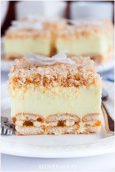 Ciasto śnieżny puch - I Love Bake Polish Desserts, Polish Recipes, Cheesecake Pops, Cake Recipes, Dessert Recipes, Delicious Desserts, Yummy Food, Homemade Cakes, Other Recipes