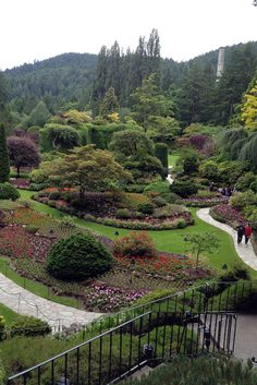 Butchart Gardens, Victoria, Canada. I have been there - it is absolutely beautiful. Check this one off the list