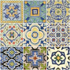 tile art | hand painted tiles Mission series by Glass Tile Oasis
