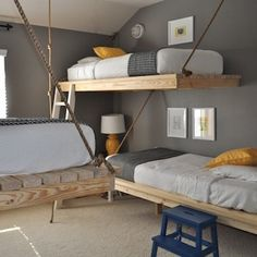 Rope-Suspended Bunkbeds