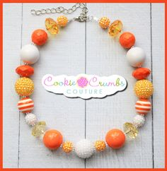 """This necklace is a fun piece for your daughter's necklace collection! use it all year round or add it in with her Halloween attire !   Handcrafted from quality items, our necklaces are not mass produced and are made to last! All of our necklaces are made to be approx. 16"""" with 4"""" in chain so that it can grow with your child and fit many ages."""
