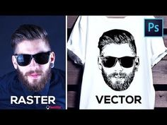 How to Convert Raster Image into Vector in Photoshop – YouTu… – Graphic Design Ideas Photoshop Design, Photoshop Tutorial, Photoshop Youtube, How To Use Photoshop, Photoshop Website, Advanced Photoshop, Effects Photoshop, Photoshop Brushes, Photoshop Actions