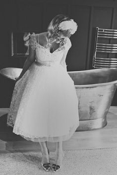 Wedding Dress and veil: vintage from Fur Coat, No Knickers
