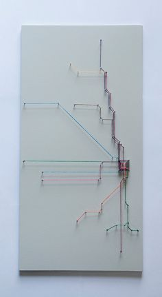 Chicago String Art- Transit Map. $50.00. SelerdorDesigns on Etsy