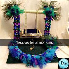 Janamashtami Decoration Ideas, Ganpati Decoration Design, Diy Diwali Decorations, Backdrop Decorations, Festival Decorations, Desi Wedding Decor, Wedding Crafts, Naming Ceremony Decoration, Marriage Decoration