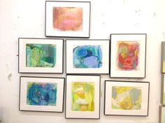 Little framed abstracts now available in the SHOP! | The Color Teil