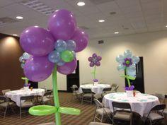 Balloon Flowers by www.idealpartydecorators.com