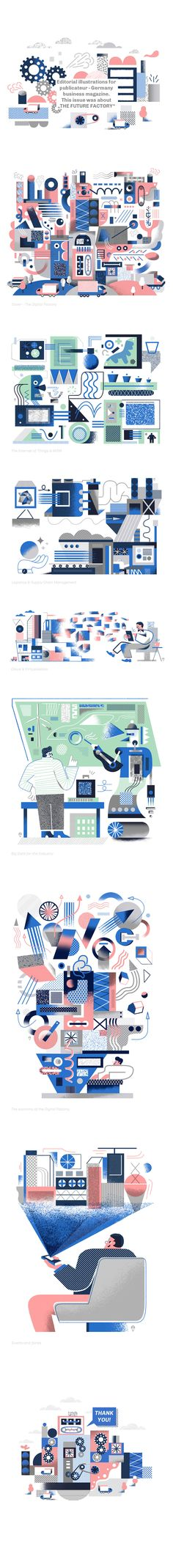 Editorial illustrations for publicateur - Germany business magazine