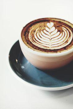 Beautiful latte art.