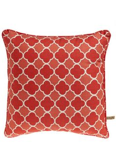 Adventures at Alhambra Pillow in Ruby
