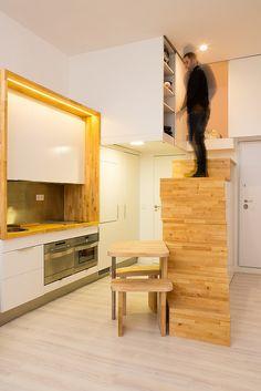 Se propone convertir la vivienda, de tamaño muy reducido, en un paisaje que distorsione su escala real.  Arquitectos: Beriot, Bernardini Arquitectos. C/ Maestro Alonso 22- 28028 Madrid. Tel. (+34)913563354. http://beriotbernardini.blogspot.com.es/ beriotbernardini@gmail.com www.beriotbernardini.net
