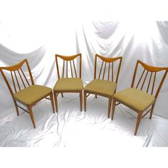 Image of Mid-Century Danish Walnut Dining Chairs by Keller Furniture - S/4