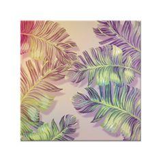 Azulejo Tropical Life de Alinne Facundo sobre rosa, verde, tropical, folhas, verão, colors, salmão, tropicos, palhas