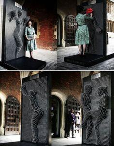 "Creative Public Works of Art Lulu Guinness ""Be A Pin-Up"""" in London. Guinness ""Be A Pin-Up"""" in London. Interactive Installation, Interactive Art, Instalation Art, Image Center, Urbane Kunst, Lulu Guinness, Pin Up, Art Deco, Street Furniture"