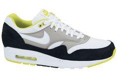 Nike Air Max 1 Essential   White Yellow Black Sneakers Nike db5fe0d086