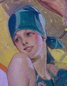 J.C. Leyendecker, original oil painting.