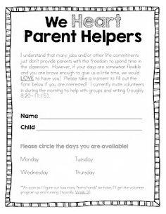 1000 Images About Parent Volunteer Letter On Pinterest