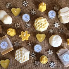 Handmade natural soa Handmade natural soap & skincare pure beeswax by ElliesFarmShop Christmas Gifts For Women, Birthday Gifts For Women, Yellow Crafts, Soap Shop, Candle Shop, Fabric Gifts, Beeswax Candles, Etsy Crafts, Pure Products