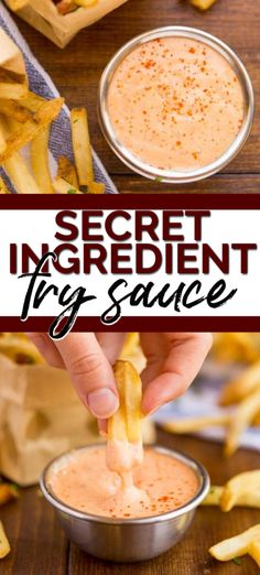 This Secret Ingredient Fry Sauce recipe uses only a few ingredients to spice it up so it tastes amazing! Don't settle for plain old ketchup and mayo when you can enjoy this dip on your fries and burgers! Burger Sauces Recipe, Sauce Recipes, Cooking Recipes, Keto Sauces, Dishes Recipes, Healthy Sauces, Icing Recipes, Ramen Recipes, Fudge Recipes