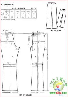 modelist books: different design systems - Kleidung Ideen 2019 Sewing Pants, Sewing Clothes, Diy Clothes, Dress Sewing Patterns, Sewing Patterns Free, Clothing Patterns, Bodice Pattern, Pants Pattern, Pattern Cutting