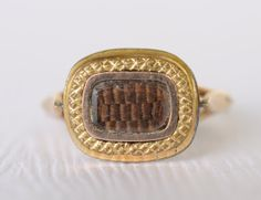 1900s Antique Victorian Mourning hair ring  Gorgeous!