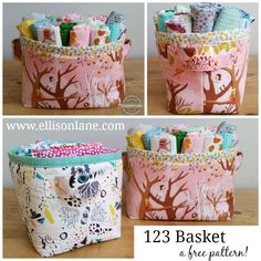 fabric basket free pattern ellisonlane.com