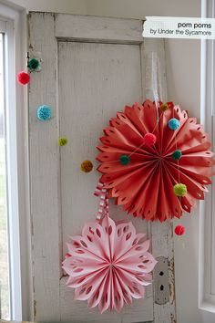 I've posted a few peeks at pom poms here and on Instagram. I didn't do a tutorial because there...