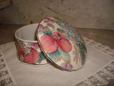 Vintage Andrea By Sadek Fruit Design Trinket Box   SelectionsBySusan - Collectibles on ArtFire