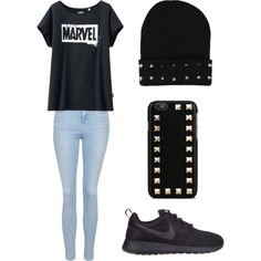 Comfy Casual by xleahnoelx on Polyvore featuring Uniqlo, Topshop, NIKE and Valentino