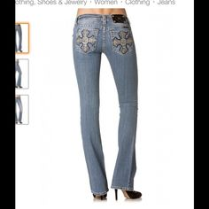 Miss Me jeans bootcut Excellent condition only wore a couple of times. Really cute. Miss Me Jeans Boot Cut