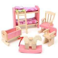 BARBIE KELLY CRIB w BABY MOBILE BLANKET PILLOW Nursery Furniture ...