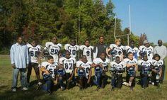 Lennon Lacy's first football team, in Virginia. Lennon is No52 on the far left.