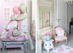 Prinzessinnenzimmer-Sessel und Stofftiere