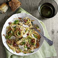 Pancetta and Brussels Sprouts Linguini Recipe - Country Living