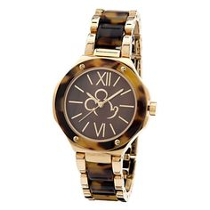 Mickey Mouse Tortoiseshell Link Watch for Women
