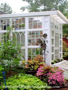 Building a Repurposed Windows Greenhouse #buildingagardenshed