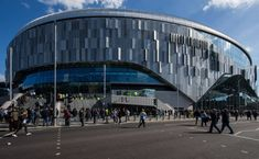 A general view of fans arriving at the Tottenham Hotspur Stadium ahead of the Premier League match between Tottenham Hotspur and Southampton at Tottenham Hotspur Stadium on March 2019 in. Get premium, high resolution news photos at Getty Images English Football Stadiums, Tottenham Hotspur Fc, Premier League Matches, School Football, North London, Southampton, Sydney Harbour Bridge, Photos, Pictures