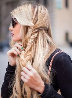 One Sided Half Braids for Long Hair | Full Dose